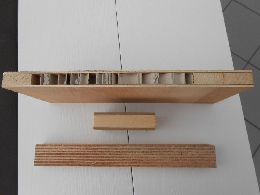 ed alcune immagini di campioni di materiali usati per realizzarli ...
